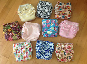 Lot of ten cloth diapers - excellent/almost new condition