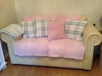 Chesterfield style 2 Seater leather sofa