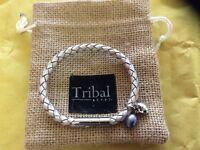 2 tribal leather bracelets