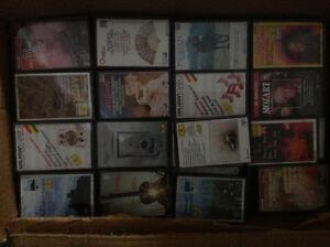 Lot d'environ 116 cassettes de musique classique, symphonies