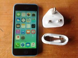 APPLE IPHONE 5C 8GB BLUE UNLOCKED IT WILL TAKE ANY NETWORK SIM