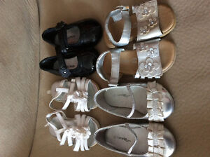 Girls size 5 super cute shoe Lot. 4 pairs. A steal.