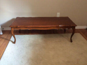 French provincial coffee table 2 matching end tables + cabinet.