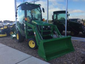 JOHN DEERE 1025R WITH MAUSER CAB, LOADER-CLEARANCE SALE-LAST ONE