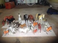Collection of toy horses