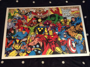 MARVEL AVENGERS Comics poster. Excellent condition.