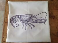 Lobster cushion cover shabby chic style