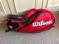 Wilson tennis racket tour bag.
