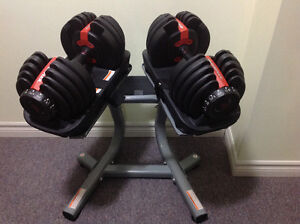 Bowflex Dumbbells with the stand