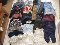 Large boys clothes bundle 18-24 months
