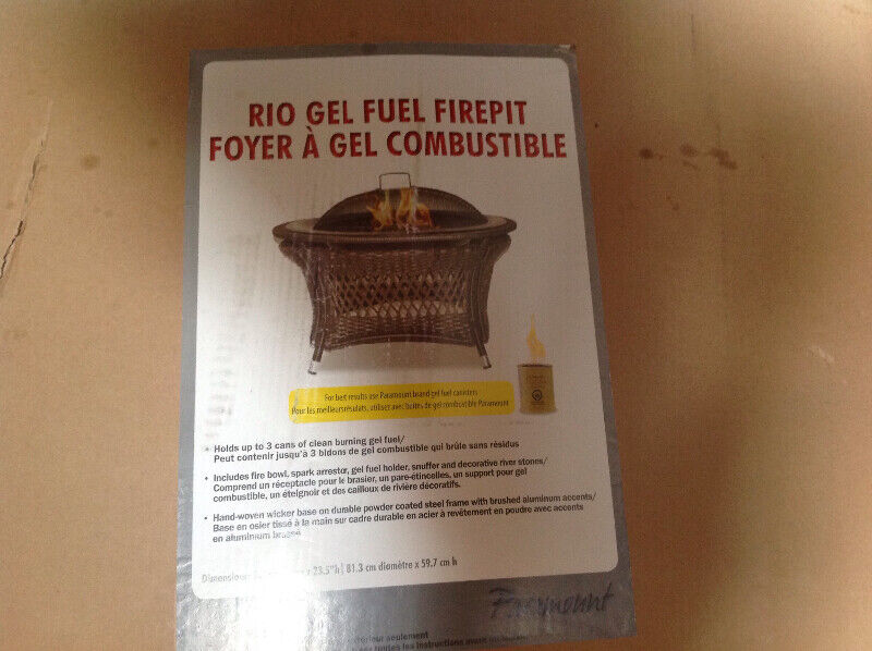 Brand new Rio gel outdoor fire pit selling for $150.00 ...