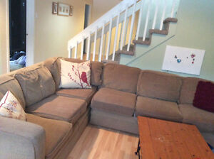 Sectional couch with hide a bed FREE