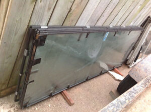 "4 PIECES-  TEMPERED GLASS  ONLY- 27.5""W X 75.5""L EACH - EACH $25"