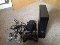 Xbox 360 250G with 2 controllers, minecraft & minecraft story mode.