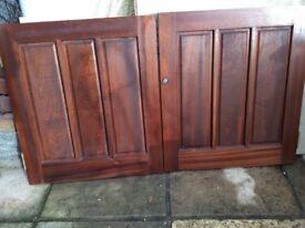 Solid MAHOGANY Panel DOORS (pair) - Superb Quality