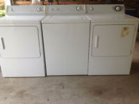 2 DRYERS and 1 WASHER ALL FOR 275 MOFFAT PAIR AND GE DRYER