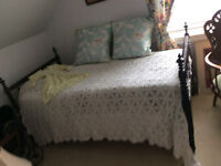 Antique early 1900's single spindle day bed