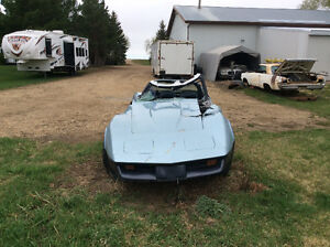 1982 and 1974 corvettes lots of good parts