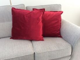 "Pair of Large Scatter Cushions 21"" Square"