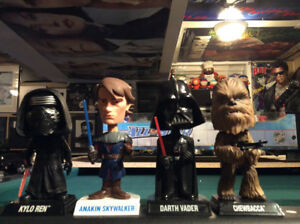 STAR WARS LIMITED EDITION COLLECTIBLE BOBBLEHEAD ACTION FIGURES