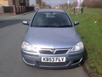 2004 VAUXHALL CORSA ELEGANCE 1.2 16V 3 DOOR. Service history. 12 Months Mot. And warranty available