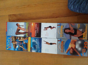 Fitness and yoga VHS (6 in total)