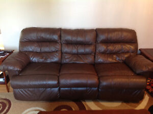 Leather sofa and loves eat