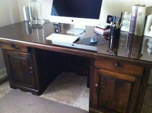 Dark Stained Pine Desk