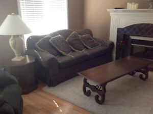 Coffee Table Set with 2 Lamps