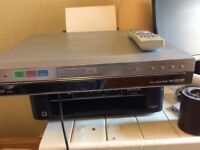 DVD recorder and player with remote.