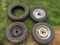 Four tyres free to collect