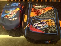 Hot wheels backpack and lunch kit
