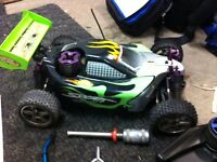 Nitro buggy, needs recoil, front axles to make it 4wd