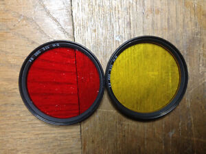 62 mm yellow and red filters West Island Greater Montréal image 1
