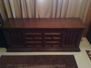 Westinghouse Solid State Stereo in a solid Maple Cabinet.>>$360.