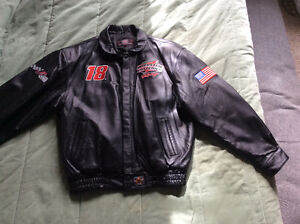 Interstate Batteries leather racing jacket