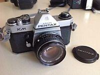 Asahi Pentax KM SLR Camera with Vivitar flash
