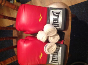 heavey bag and gloves