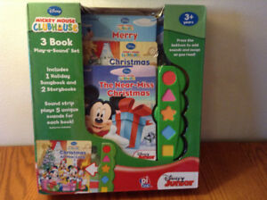 Mickey Mouse – 3 Song and Story Books – BRAND NEW, SEALED