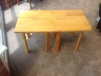 PAIR Pine Finish SQUARE OCCASIONAL / BEDSIDE/ COFFEE TABLES