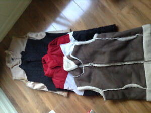 New winter vests and coats. Great Xmas gifts