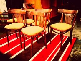 Six Vintage Bentwood Chairs