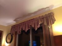 Curtain topper valance