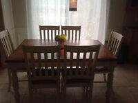 Ensemble de salle à manger en bois massif 7 pièces
