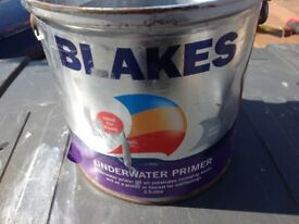 Blakes boat paint (under water Grey primer)