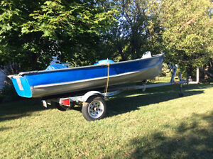 Maden 14 foot aluminum boat with aluminum trailer