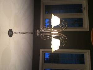 Antique bronze dining room chandelier for sale.