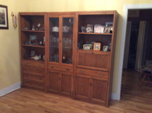 Solid oak 3 piece cabinet