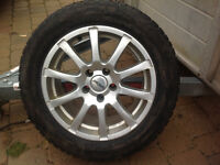 Snow tires and rims 100$ each
