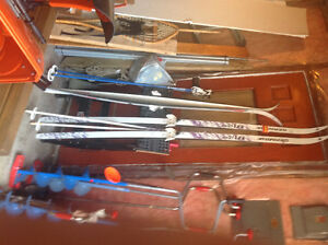 Wax less Cross Country Skis with Poles